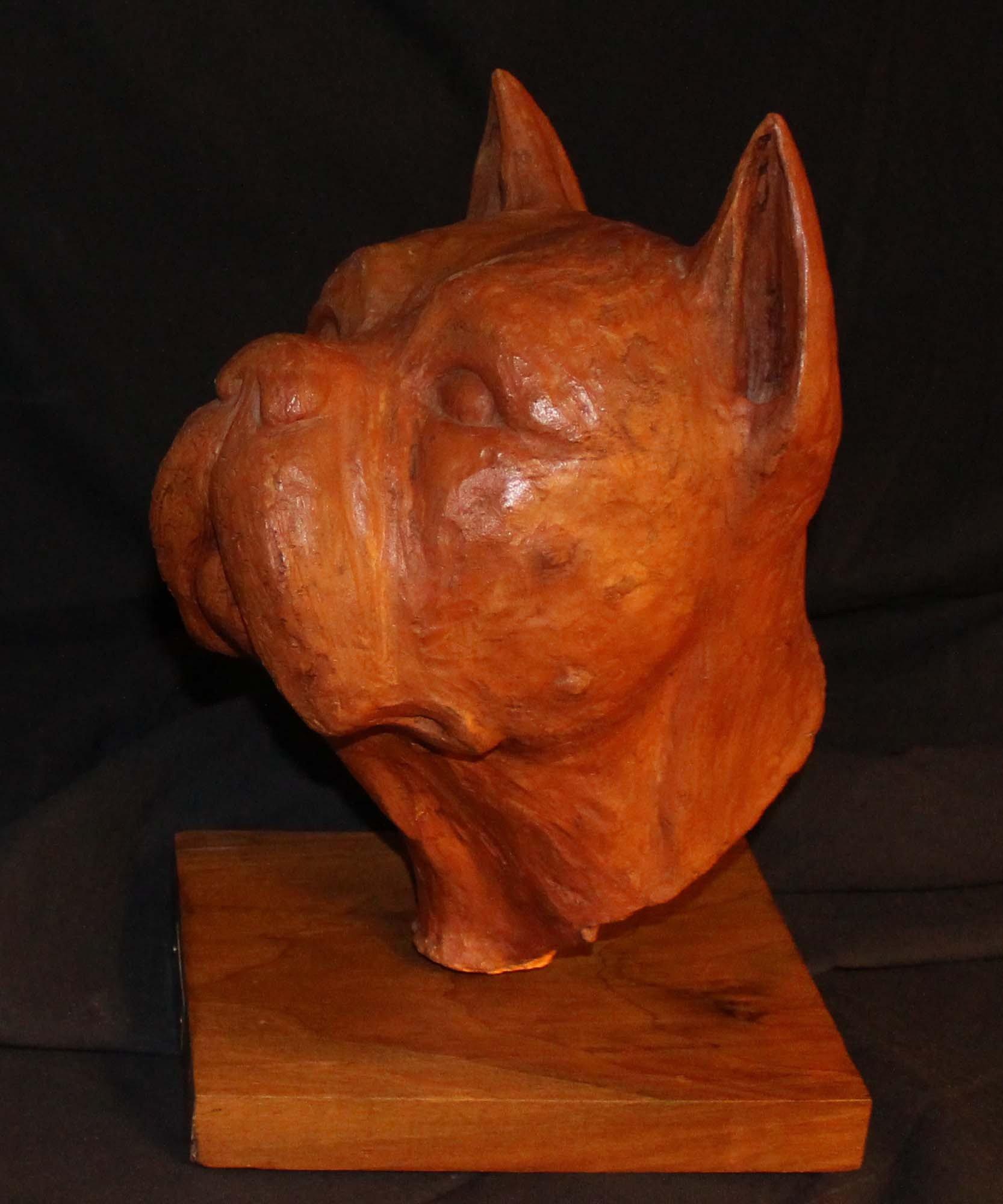 galerie-bosetti-antiquites terre cuite boxer De SIGALDI, profil gauche