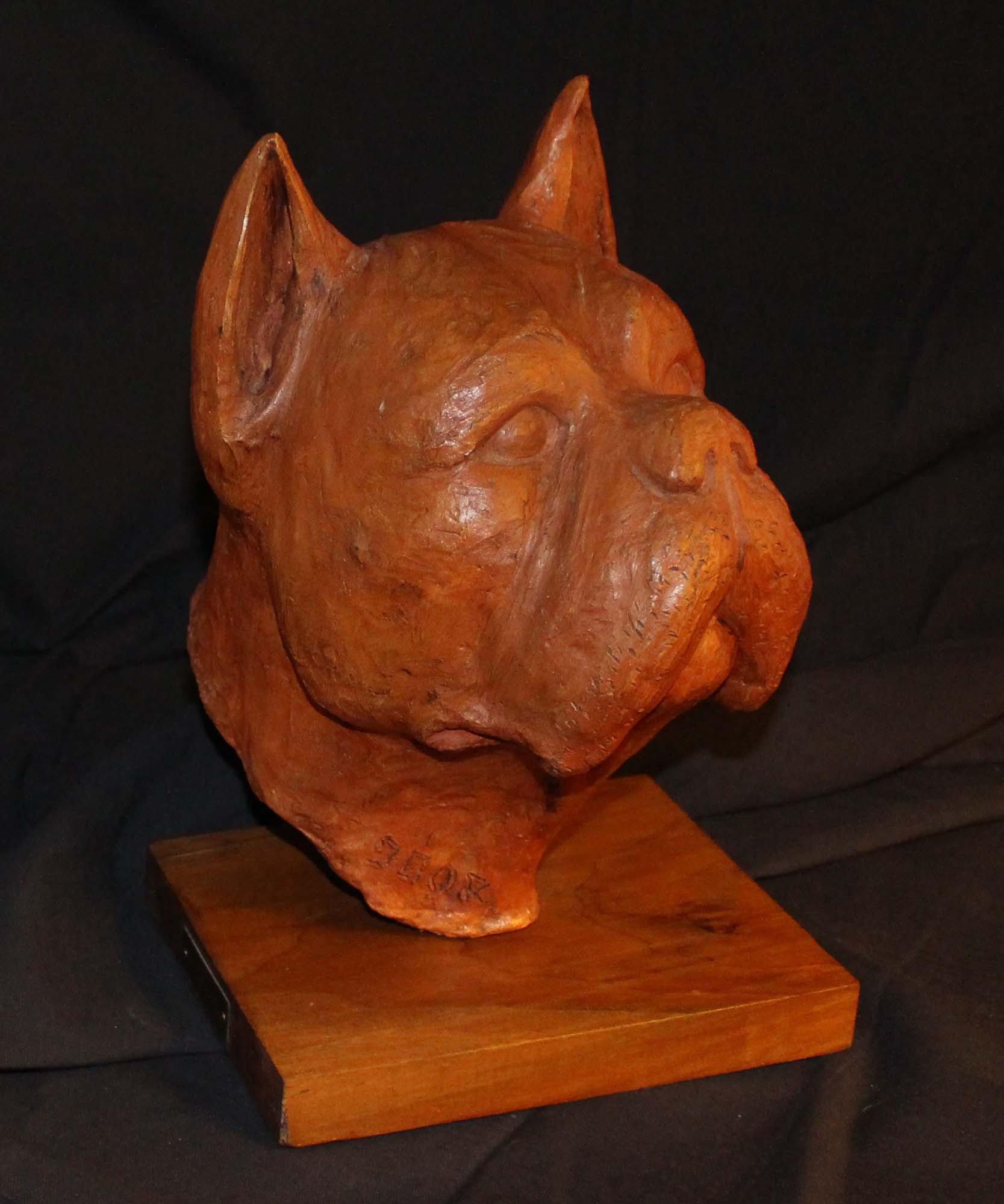 galerie-bosetti-antiquites terre cuite boxer De SIGALDI, profil droit