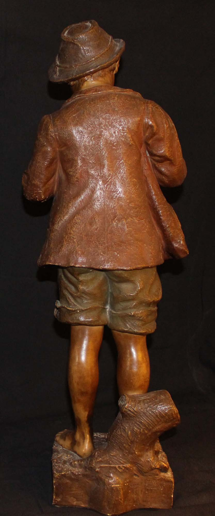 galerie-bosetti-antiquites, sculpture terre cuite GOLDSCHEIDER dos