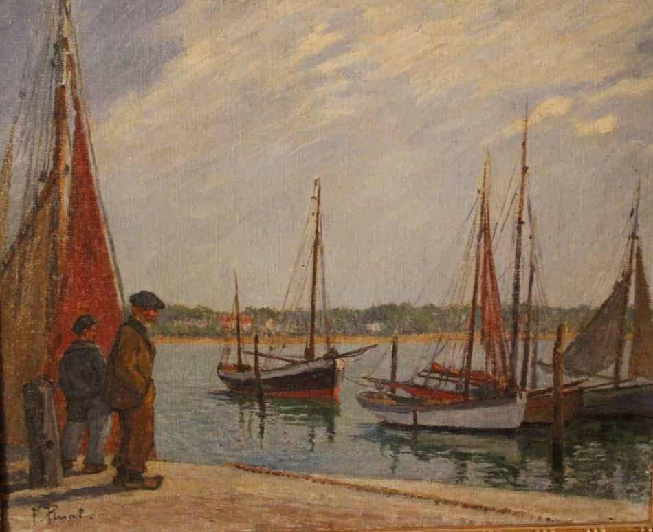 galerie-bosetti-antiquites, port de ROYAN vue en plein