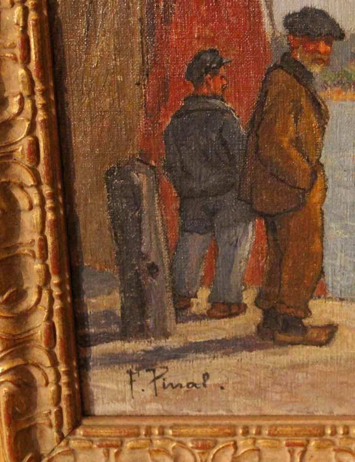 galerie-bosetti-antiquites, port de ROYAN, signature PINAL