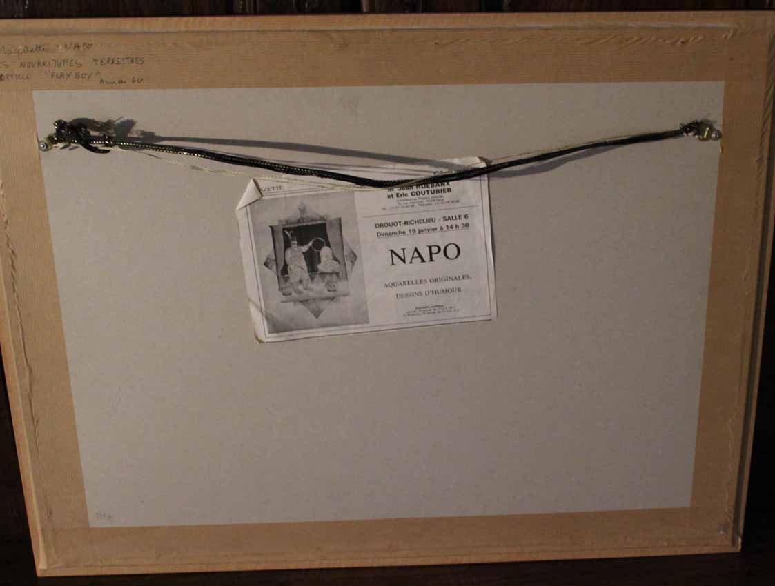galerie-bosetti-antiquites Maquette Virginie NAPO, verso