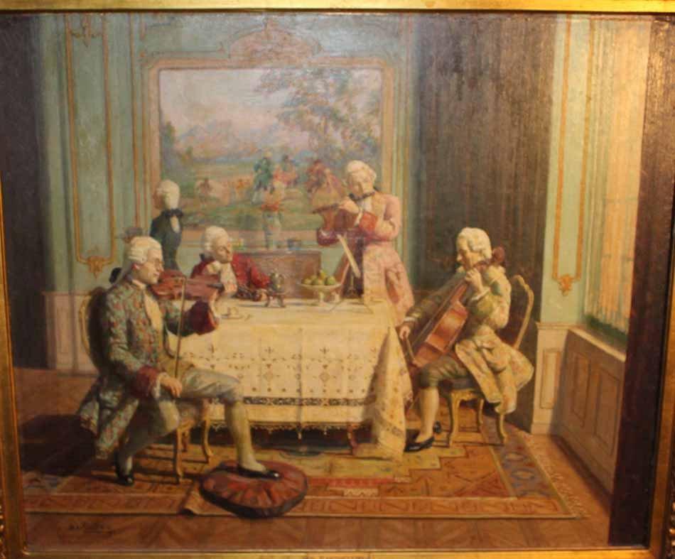 galerie-bosetti-antiquites, scène d'interieur, détail scene