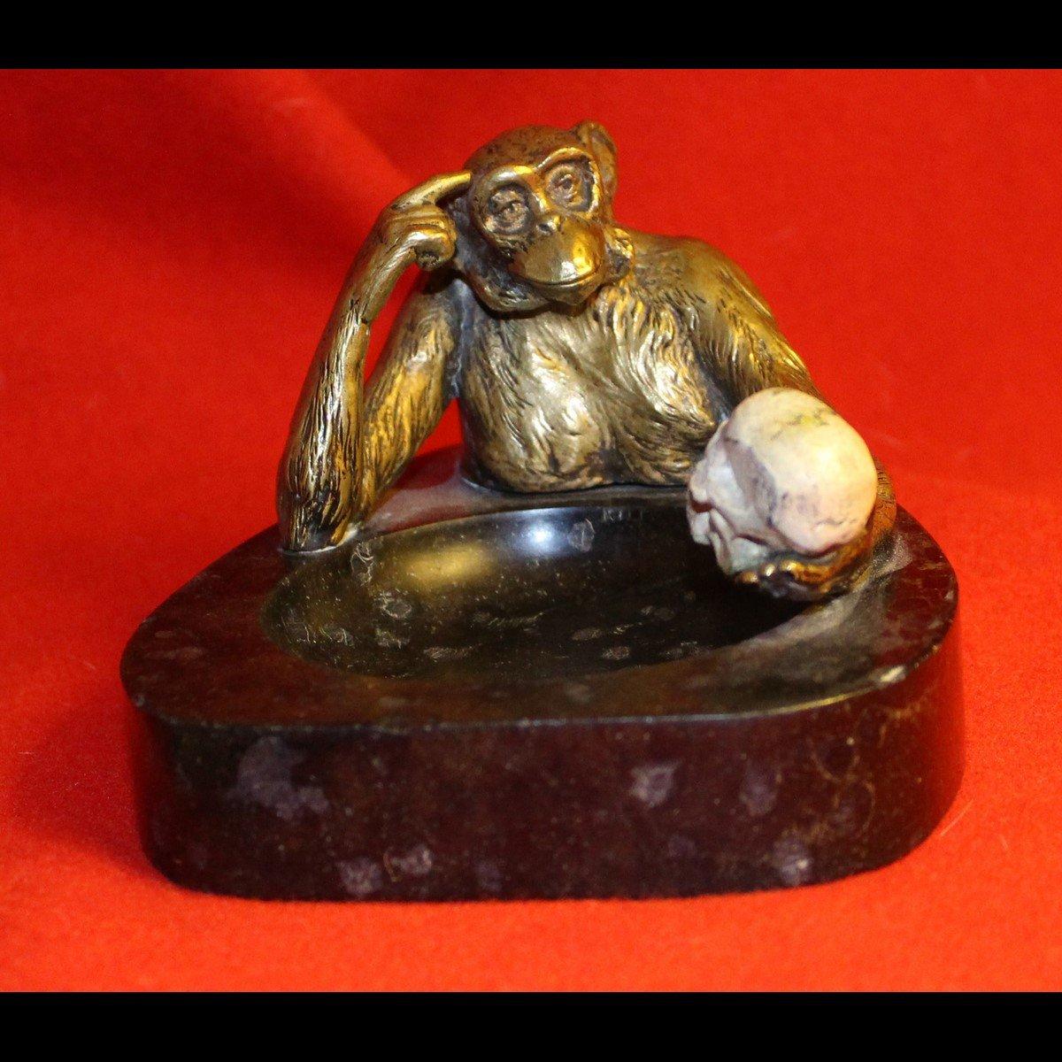 galerie-bosetti-antiquites, sculpture singe vanite