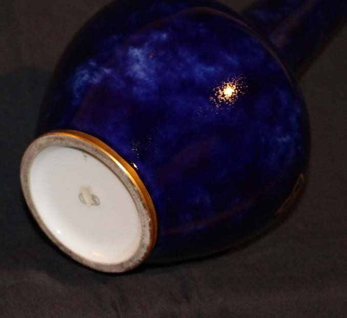 SEVRES vase bleu dessous