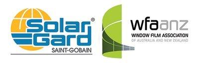 allcool window films wfaanz and safe gard logo