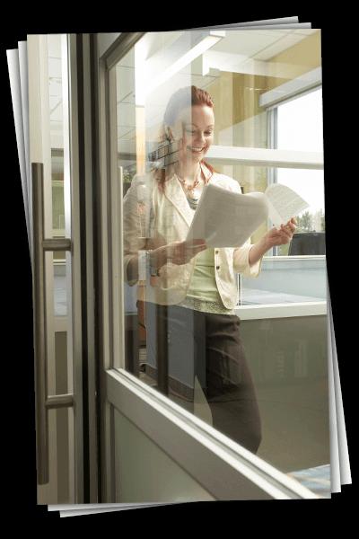 allcool window films office interior glass tint