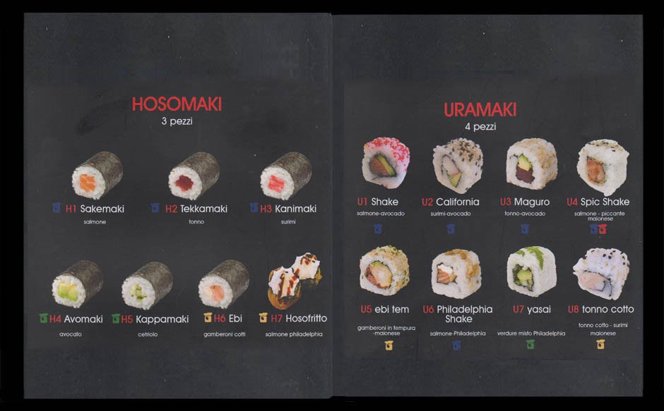 menu uramaki