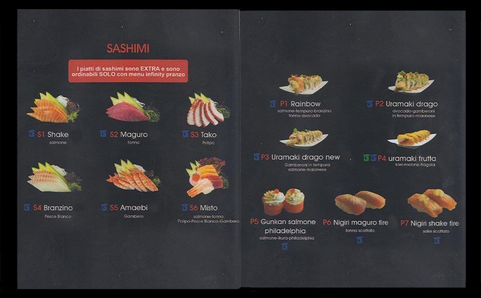 menu cena giapponese