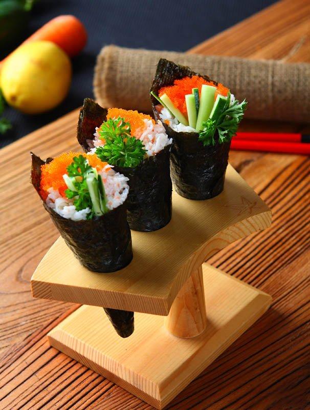 tris temaki sushi