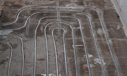 layout of underfloor heating