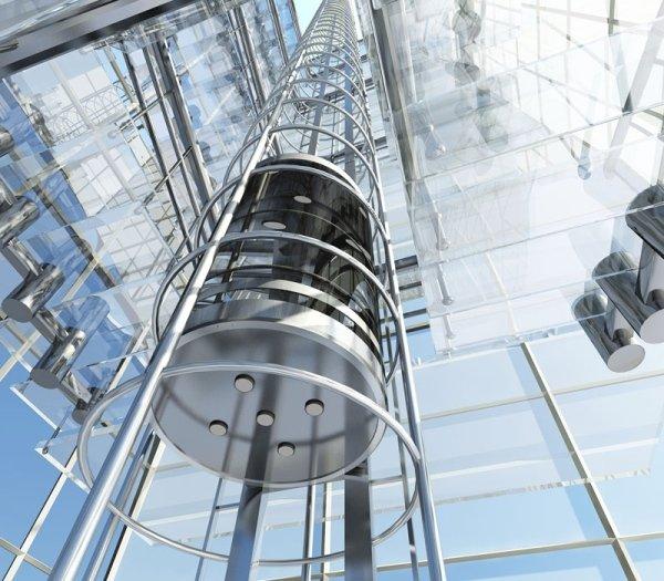 Vista ascensore dal basso