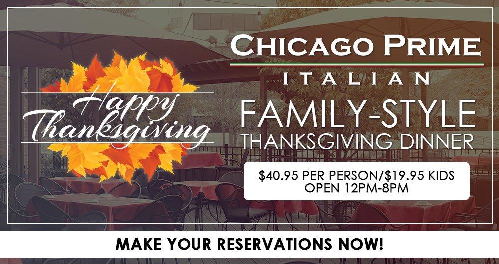 Thanksgiving Family-Style Dinner