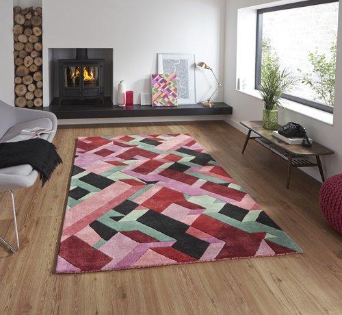 Multi color design carpet