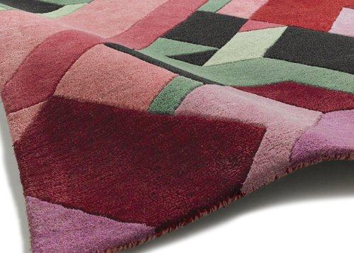 Close view of the carpet design
