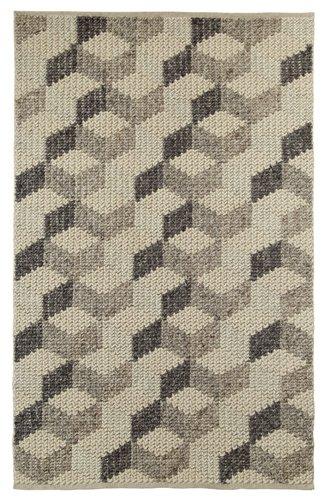 Closer view of 3D effect design carpet