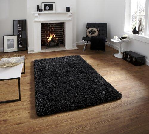Black color floor carpet