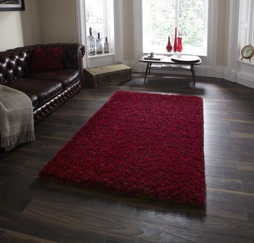 Red color floor carpet