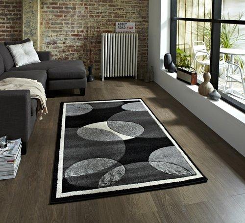 View of a rectangular carpet with circles