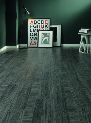 Dark grey wooden flooring
