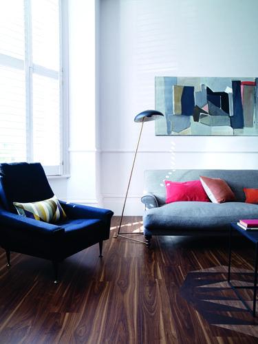 Brown wooden flooring