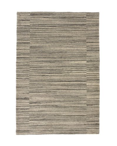 Closer view of the carpet with horizontal lines