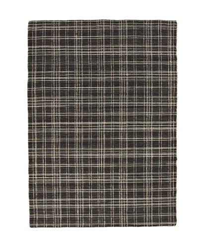 Closer view of a check design carpet