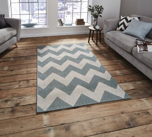 White and grey wave carpet