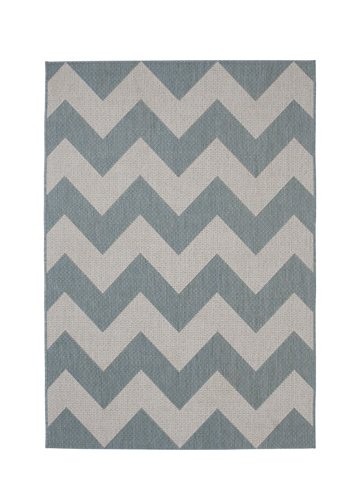 Grey and white color wave carpet