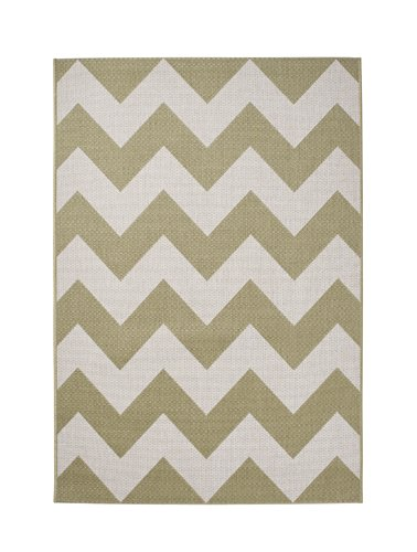 Beige and white wave carpet