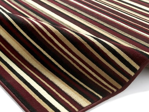 Rug with maroon color  horizontal line
