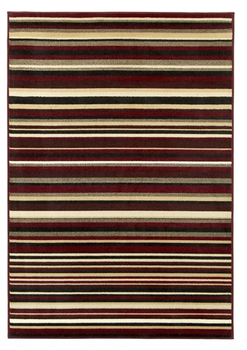 Rug with red color  horizontal line