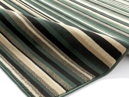 Rug with blue and black color  horizontal line