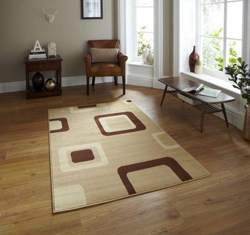 Carpet with square design