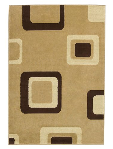 Top view of the carpet with square boxes