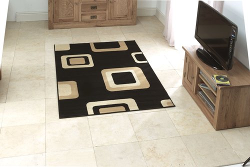 Small size rug with square design