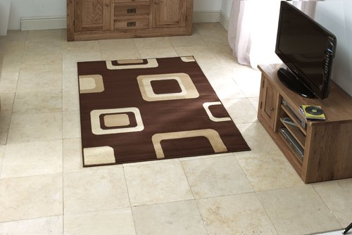 View of rug with square design