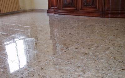 lucidatura pavimentazione marmo