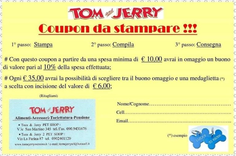 Promozione Tom & Jerry
