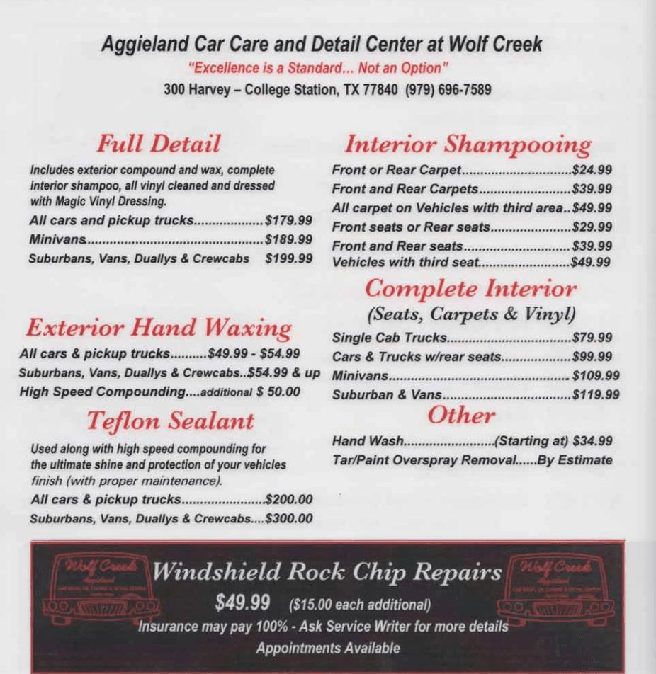 Wolf Creek Car Wash Hours