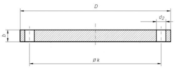 Dimensioni Flangia cieca