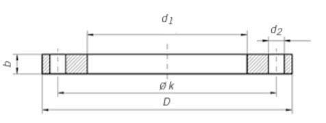 Dimensioni Flange Piane