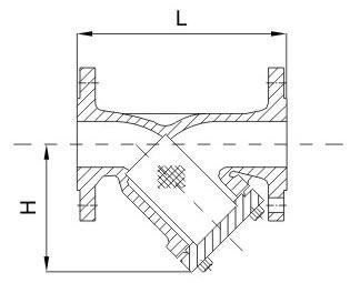 Y-strainer PN40 diagram