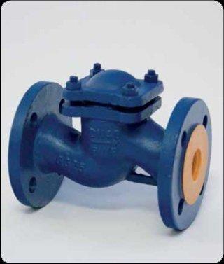 Conveyed flow check valve PN16