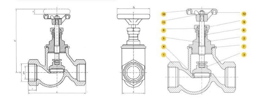 Threaded conveyed flow valve