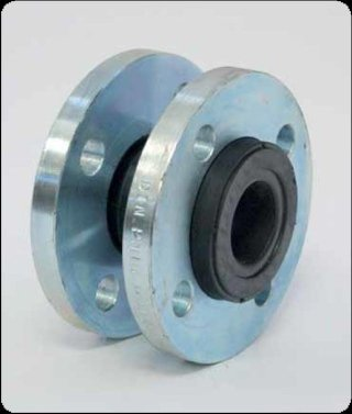 Flanged flexible coupling