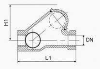 Threaded ball check valve diagram