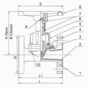 Schema Valvola a membrana