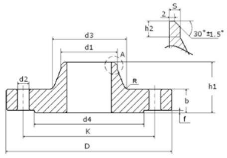 Collar flange dimensions