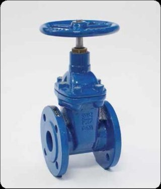 Rubbered wedge flat gate valve